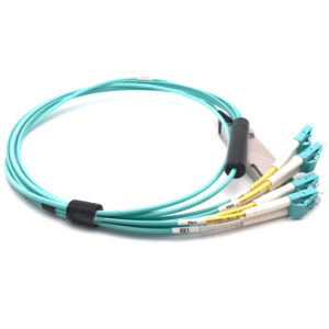 Compatible 40G QSFP+ Breakout Active Optical Cable (QSFP+ to 8x LC, XX-meter, OM3)