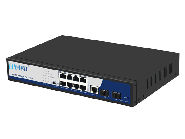 10 Ports Commercial L2 Managed POE Switch